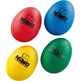 Meinl NINOSET540 Plastic Egg-Shaker Assortment, Blue, Green, Red, Yellow, 4 Pieces