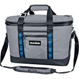 CleverMade Maverick Collapsible Cooler Bag - 50 Can Insulated Leakproof Soft Sided Beverage Tote with Shoulder Strap, Bottle