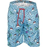 Funny Guy Mugs Mens Lightweight Quick Dry Swim Trunks with Mesh Lining and Zippered Pockets