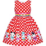 Sunny Fashion Girls Dress Navy Blue Butterfly Party Princess Child Clothes Size 4-12 Years
