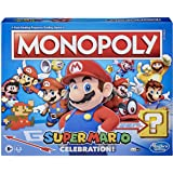 Monopoly Super Mario Celebration Edition Board Game - For Super Mario Fans - With Video Game Sounds Effects - 2 To 6 Players