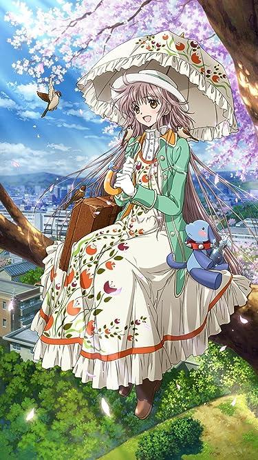 2009年に放送されたテレビアニメ - 桜をバックに日傘をさして枝に腰掛けるこばと。