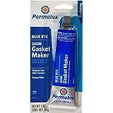 Permatex 80022-12PK Sensor-Safe Blue RTV Silicone Gasket Maker, 3 oz. Tube (Pack of 12)