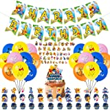 100 Pcs Winnie The Pooh The Pooh Party Supplies - Happy Birthday Banner Kids Pooh Bear Theme Banner Bunting Flags, Winnie The