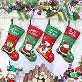 Athoinsu 4 PCS Christmas Stockings Xmas Holiday Party Home Decorations Gifts, 20''