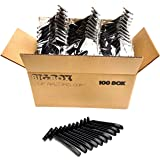 100 Twin Blade Black Disposable Razors in Bulk - Professional or Home Use