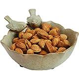 Decorative 2 Birds Garden Design Ceramic Green Serving Bowl/Jewelry Tray/Candy & Nut Dish - MyGift