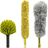 DocaPole Dusting Kit for Extension Pole or by Hand | Cleaning Kit Includes 3 Dusting Attachments | Cobweb Duster | Microfiber