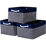 Decorative Baskets Fabric Baskets [3-Pack] Small Storage Baskets Shelf Baskets for Storage, Baskets for Gifts Empty, Baskets