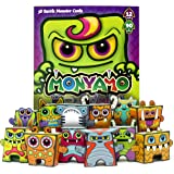 Box Buddies Monyamo - Pack of 12 Monster Paper Toy Cards to Build and Play in the Game