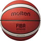 Molten BG-Series Leather Basketball, FIBA Approved - BG5000, Size 7, 2-Tone (B7G5000)