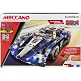 MECCANO by Erector, 25-Model Supercar STEM Building Kit with LED Lights, for Ages 10 and Up, Multicolor (6044495)