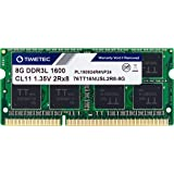 Timetec Hynix IC 8GB DDR3L 1600MHz PC3L-12800 Non ECC Unbuffered 1.35V CL11 2Rx8 Dual Rank 204 Pin SODIMM Laptop Notebook Com