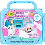 CRAYOLA 747268 Scribble Scrubbie, Portable Vet Pet Play Set, Perfect Gift for Kids, Includes 2 Pet Figurines; Colour & Clean