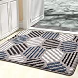 "Color&Geometry Indoor Doormat, Indoor Outdoor 32""x40"" Mat Waterproof, Non Slip Washable Quickly Absorb Moisture and Resist Di"
