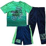 DC Comics Boys' Justice League Shirt, Shorts and Pants 3-Piece Set