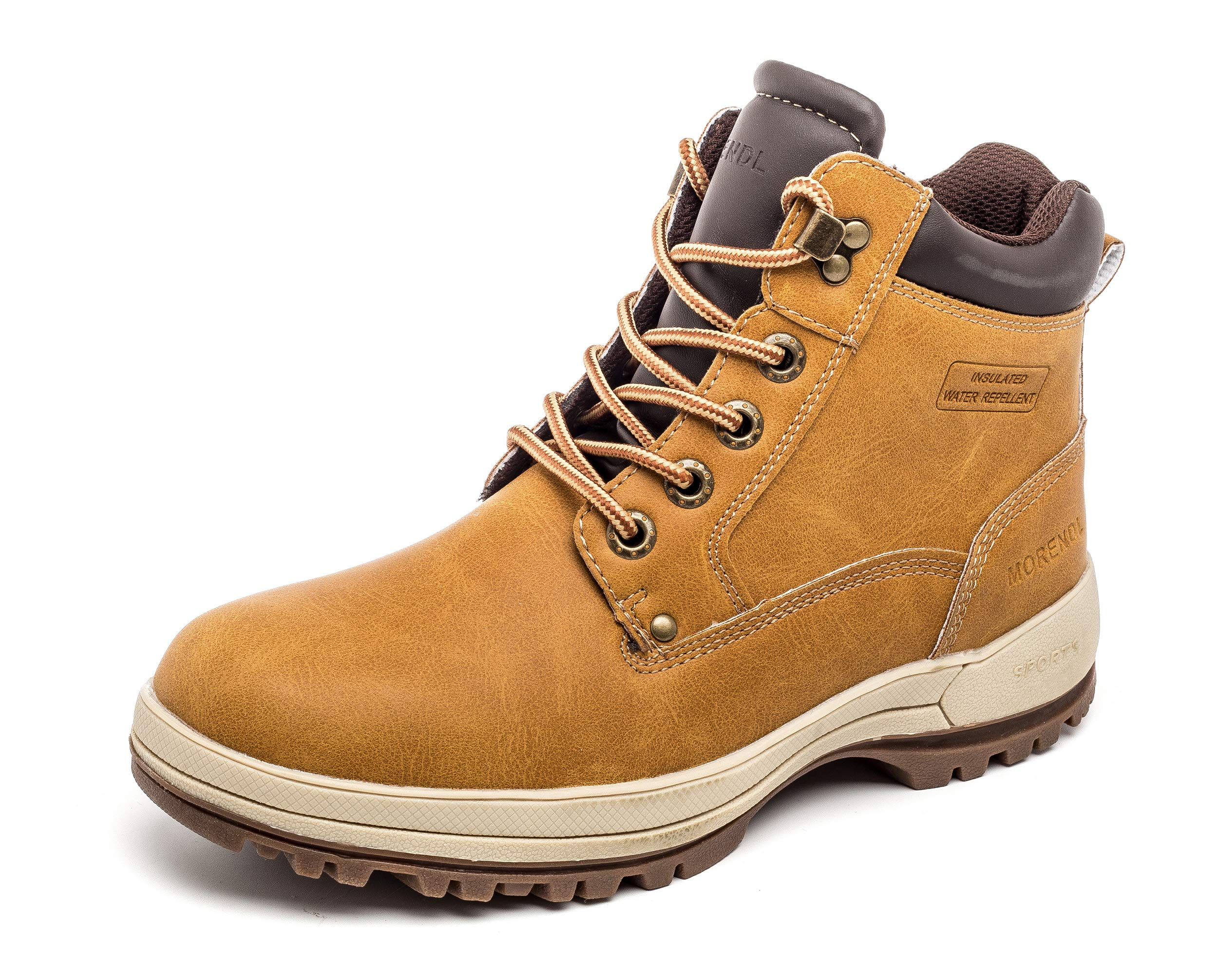 ee23d4847b9107 [MORENDL] Work Boots, Snow Boots, Climbing Shoes, Outdoor, Leather, Rain,  Shoes, Boots, Waterproof, Cold Protection, Slip, Men's Platform, Shoes