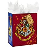 "Hallmark 13"" Large Gift Bag with Tissue Paper (Harry Potter, Hogwarts Crest) for Birthdays, Graduations, Parties and More"