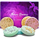 Cleverfy Aromatherapy Shower Steamers - Variety Pack of 6 Shower Bombs with Essential Oils. Purple Set: Lavender, Watermelon,