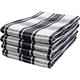 KAF Home Yarn Dyed Reversible Terry Dish Towel Set of 4, 100-Percent Cotton, 18 x 28-inch Kitchen Towels (Farmhouse Check)
