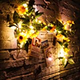 Willbond 30 LED Artificial Sunflower String Lights Sunflower Garland Fairy Lights Battery Operated Sunflower Lights for Indoo