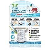 TubShroom Revolutionary Bath Tub Drain Protector Hair Catcher/Strainer/Snare Chrome