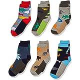 Jefferies Socks Little Boys' Fun Assorted Animals Pattern Cotton Crew Socks 6 Pair Pack, Multi