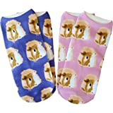 Two Pairs of Guinea Pig Gifts Face Ankle Socks by Crazy Guinea Pig Lady