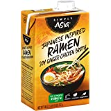 Simply Asia Japanese Inspired Ramen Soy Ginger Chicken Broth, 26 fl oz, Pack of 6