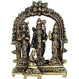 "eSplanade Brass Ram Darbar (Rama,Sita,Laxman,Hanuman) Murti Idol Statue Sculpture (5.5"") ..., Brass, Golden, 5.5"" Ram Darbar"