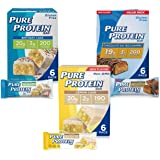Pure Protein Bars, High Protein, Nutritious Snacks to Support Energy, Low Sugar, Gluten Free, Dessert Variety Pack, 1.76 oz,
