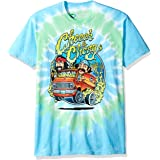 Liquid Blue Unisex-Adult 11060 Cheech and Chong Smokin' Ride Tie Dye Short Sleeve T-Shirt Short Sleeve T-Shirt - Multi