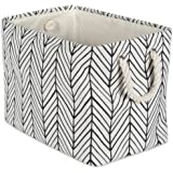 DII Collapsible Polyester Storage Basket or Bin with Durable Cotton Handles, Home Organizer Solution for Office, Bedroom, Clo