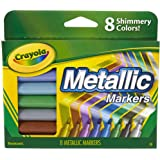 Crayola, Metallic Markers, 8 Steely Metallic Colours, Great for Card Making, Scrapbooking, Calligraphy, Christmas Craft, Clas