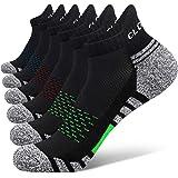 Closemate 6 Pairs Ankle Athletic Running Trainer Socks for Men Ladies Women Low Cut Wicking Sport Cushion Tab Mens Socks