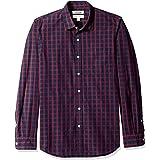 Goodthreads Men's Slim-Fit Long-Sleeve Poplin Two-Color Check Shirt