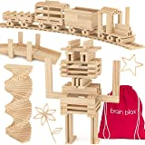 Brain Blox Wooden Building Blocks for Kids - Building Planks Set, STEM Toy for Boys and Girls (300 Pieces)