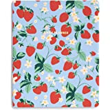 ban.do Undated Daily To Do Planner, Blue Personal Organizer Schedule Planner with Perforated Shopping and To Do Lists, Strawb