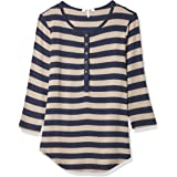 Three Dots Women's Stripe Henely Shirt