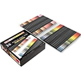 TOOLI-ART 36 Acrylic Paint Pens Skin and Earth Tones Marker Set 0.7mm Extra Fine Tip for Rock Painting, Canvas, Most Surfaces