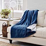 Eddie Bauer   Smart Heated Electric Throw Blanket - Reversible Sherpa - Hands Free Control -Wi-Fi Only (2.4GHz) - Compatible