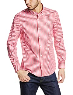 Fred Perry Block Stripe Shirt F4358: Red