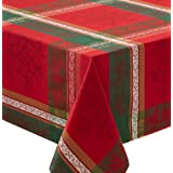 "Holiday Legacy Yarn Dyed Christmas Tablecloth (Multi, 60"" X 84"" Rectangular)"
