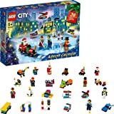 LEGO 60303 City Advent Calendar 2021 Mini Builds Set, Christmas Toys for Kids Age 5+ with Play Board & 6 Minifigures