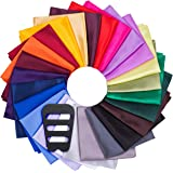 ekSel Pocket Squares for Men Handkerchief Assorted Solid Colors Set Party Weddings Elegance Collection 25 Pack