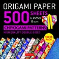 Origami Paper 500 sheets Chiyogami Designs 6 inch 15cm: High-Quality Origami Sheets Printed with 12 Different Designs (Instru