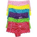 ToBeInStyle Women's Pack of 6 Hipster Panties or Boyshorts in Multiple Styles