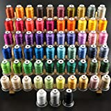 New brothread 63 Brother Colors Polyester Embroidery Machine Thread Kit 500M (550Y) Each Spool for Brother Babylock Janome Si