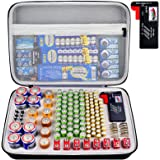 Battery Organizer Storage Box with Battery Tester (BT168), Case Bag Holder fits for 140 Batteries AA AAA AAAA 9V C D Lithium