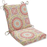 "Pillow Perfect 609522 Outdoor/Indoor Delancey Jubilee Square Corner Chair Cushion, 36.5"" x 18"", Multicolored"